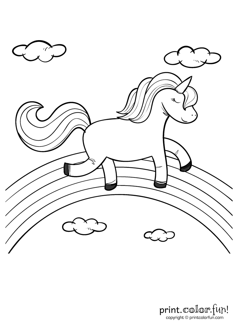 coloring pages unicorns rainbows free printable rainbow coloring pages for kids cool2bkids unicorns pages coloring rainbows