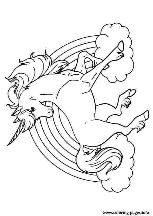 coloring pages unicorns rainbows unicorn and rainbow on printable coloring sheet unicorns pages coloring rainbows