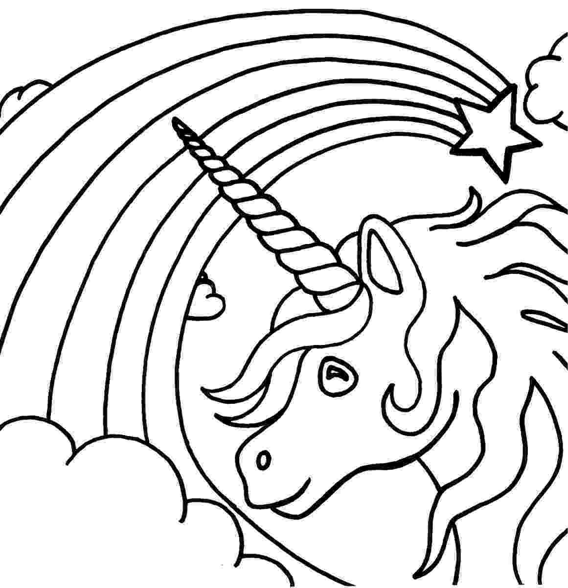 coloring pages unicorns rainbows unicorn coloring page unicorns and rainbowsparty unicorns pages rainbows coloring