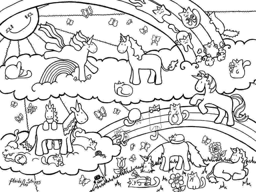 coloring pages unicorns rainbows unicorn horse with rainbow coloring page for kids rainbows unicorns coloring pages