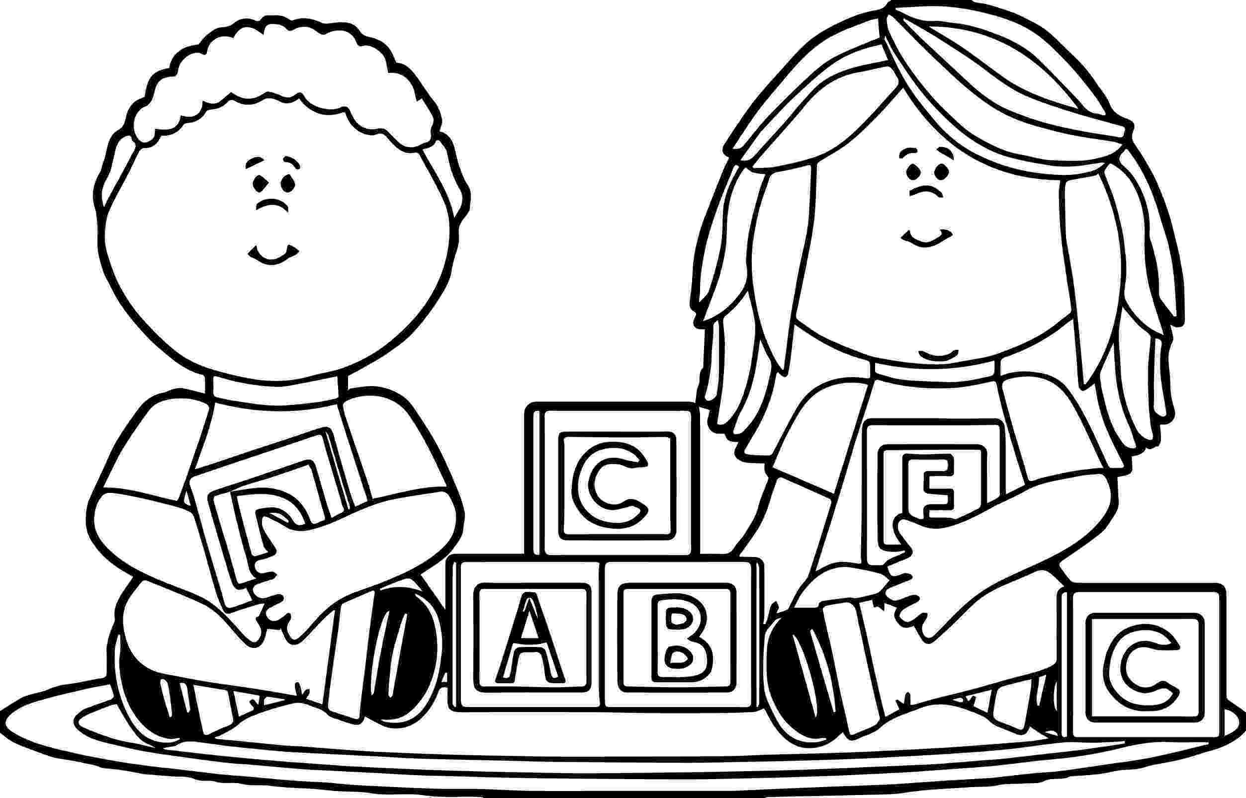coloring picture games kids playing with blocks kids coloring page picture games coloring