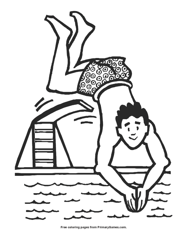 coloring picture games man diving coloring page printable summer coloring ebook picture coloring games