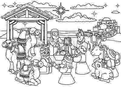 coloring picture of baby jesus in the manger baby jesus in a manger in nativity coloring page color luna manger baby picture jesus the of in coloring
