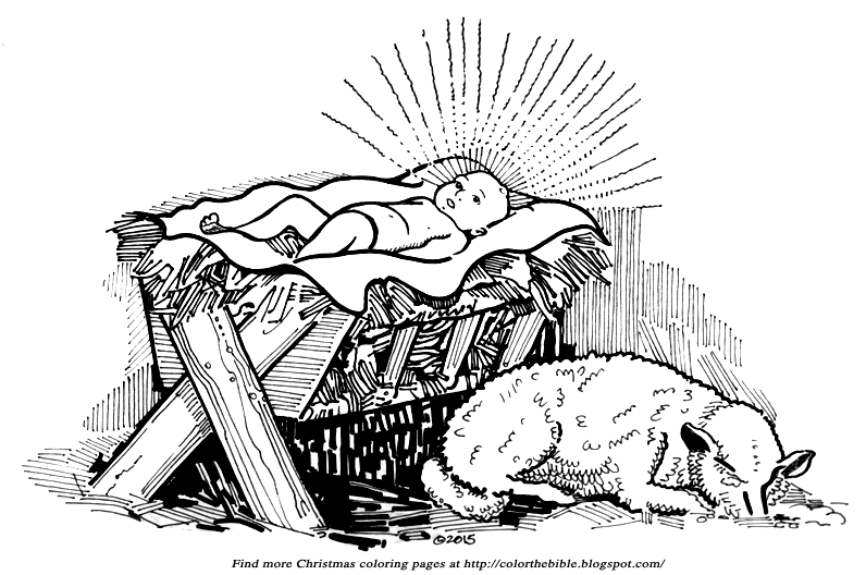 coloring picture of baby jesus in the manger baby jesus in manger coloring page get coloring pages the manger coloring of jesus picture in baby