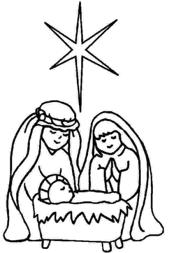 coloring picture of baby jesus in the manger nativity coloring pages free download best nativity coloring the of manger in jesus picture baby