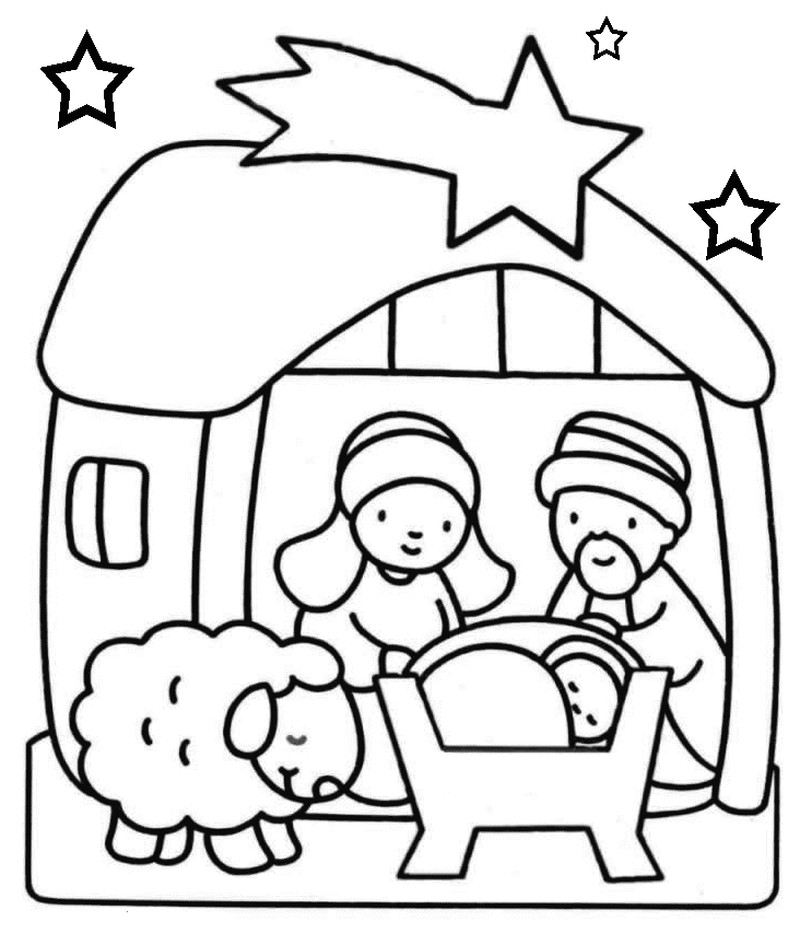 coloring picture of baby jesus in the manger xmas coloring pages of manger coloring jesus picture in the baby