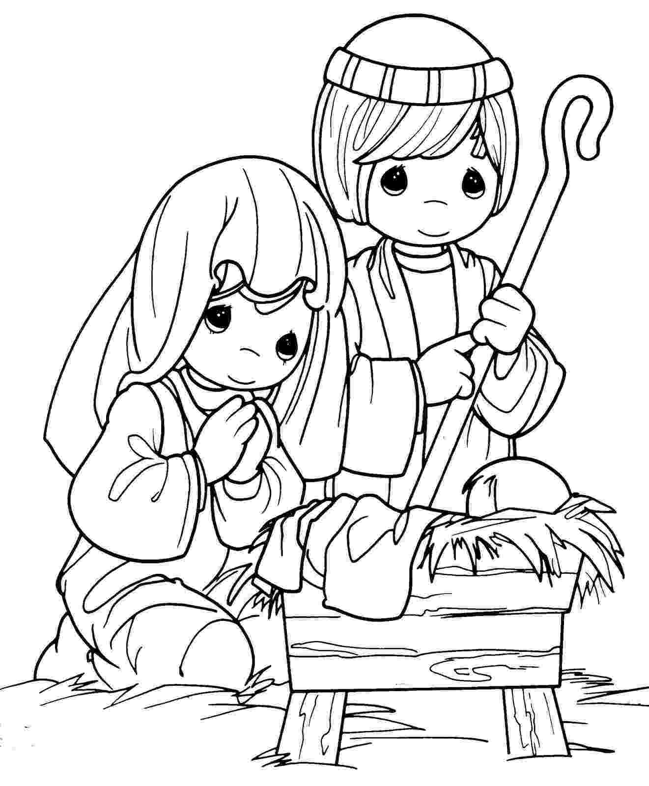coloring picture of baby jesus in the manger xmas coloring pages of the picture manger coloring in baby jesus