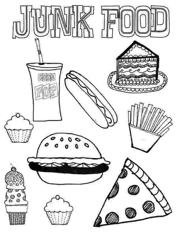 coloring picture of food junk food coloring page download print online coloring coloring picture food of