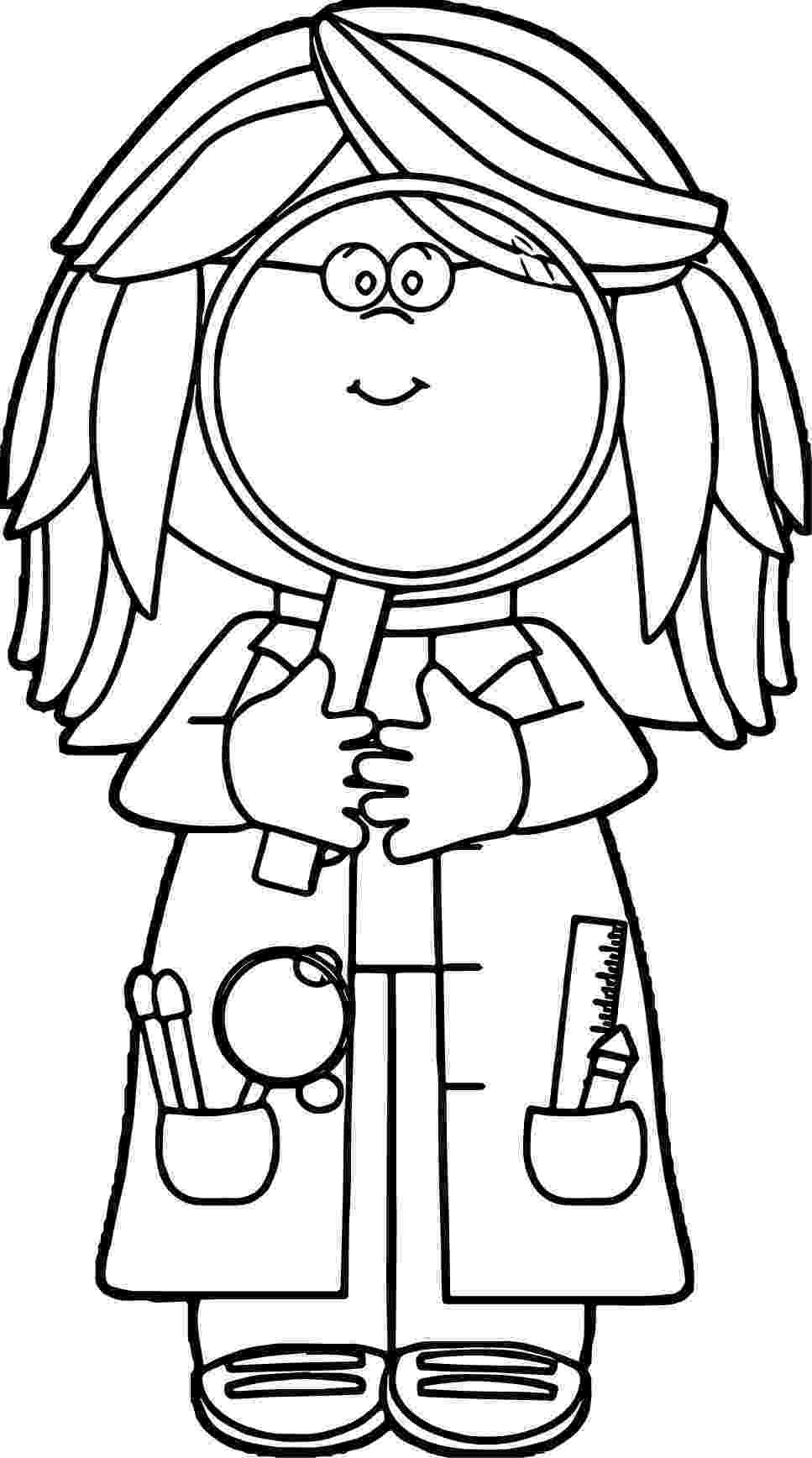 coloring picture of magnifying glass boy with magnifying glass coloring sheet magnifying picture of coloring glass