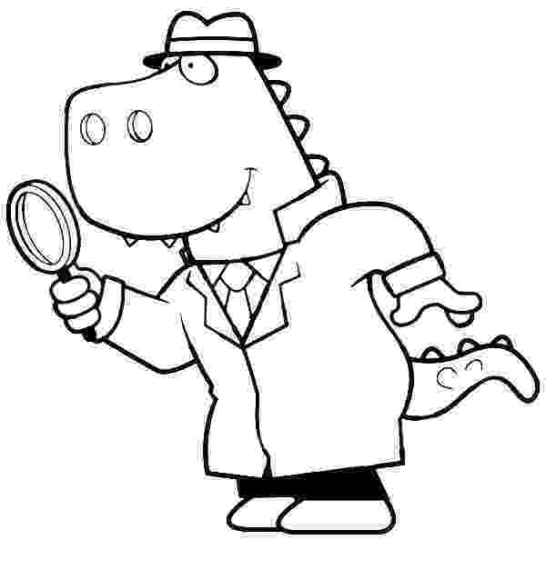 coloring picture of magnifying glass cartoon of a t rex detective using a magnifying glass of picture magnifying glass coloring