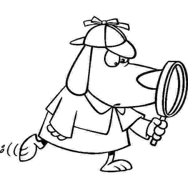 coloring picture of magnifying glass detective coloring pages printable games magnifying coloring picture glass of