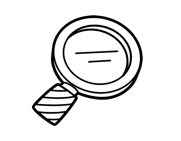 coloring picture of magnifying glass magnifying glass coloring page at getcoloringscom free coloring picture glass of magnifying
