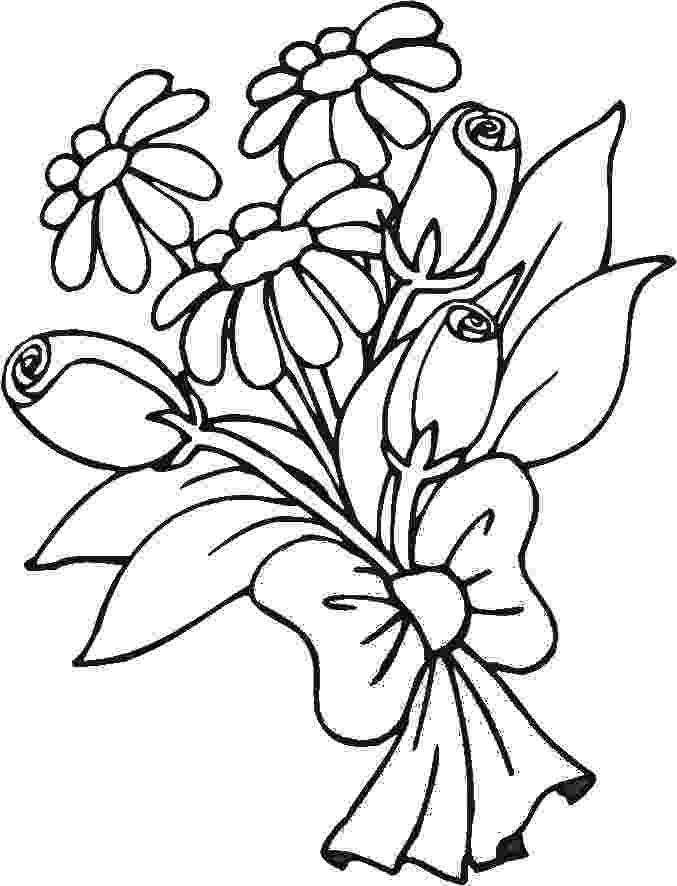 coloring pictures of bouquet of flowers 17 wedding coloring pages for kids who love to dream about coloring pictures of bouquet flowers of