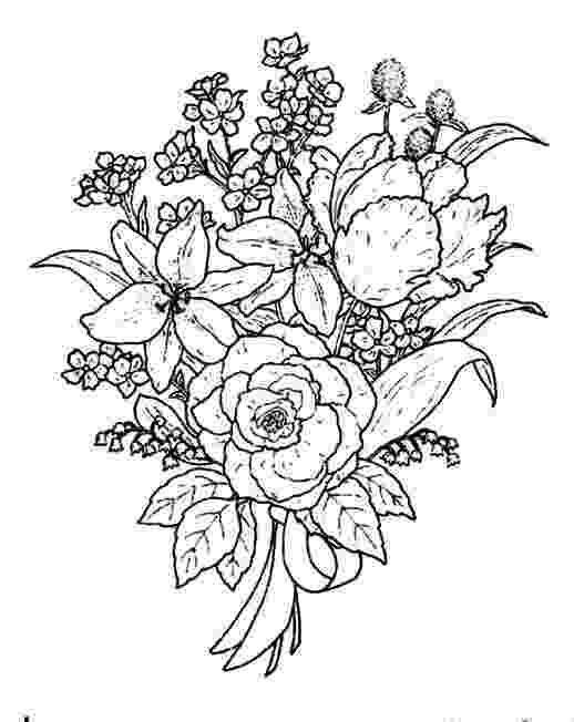coloring pictures of bouquet of flowers beautiful flower bouquet coloring page color luna pictures bouquet of coloring flowers of