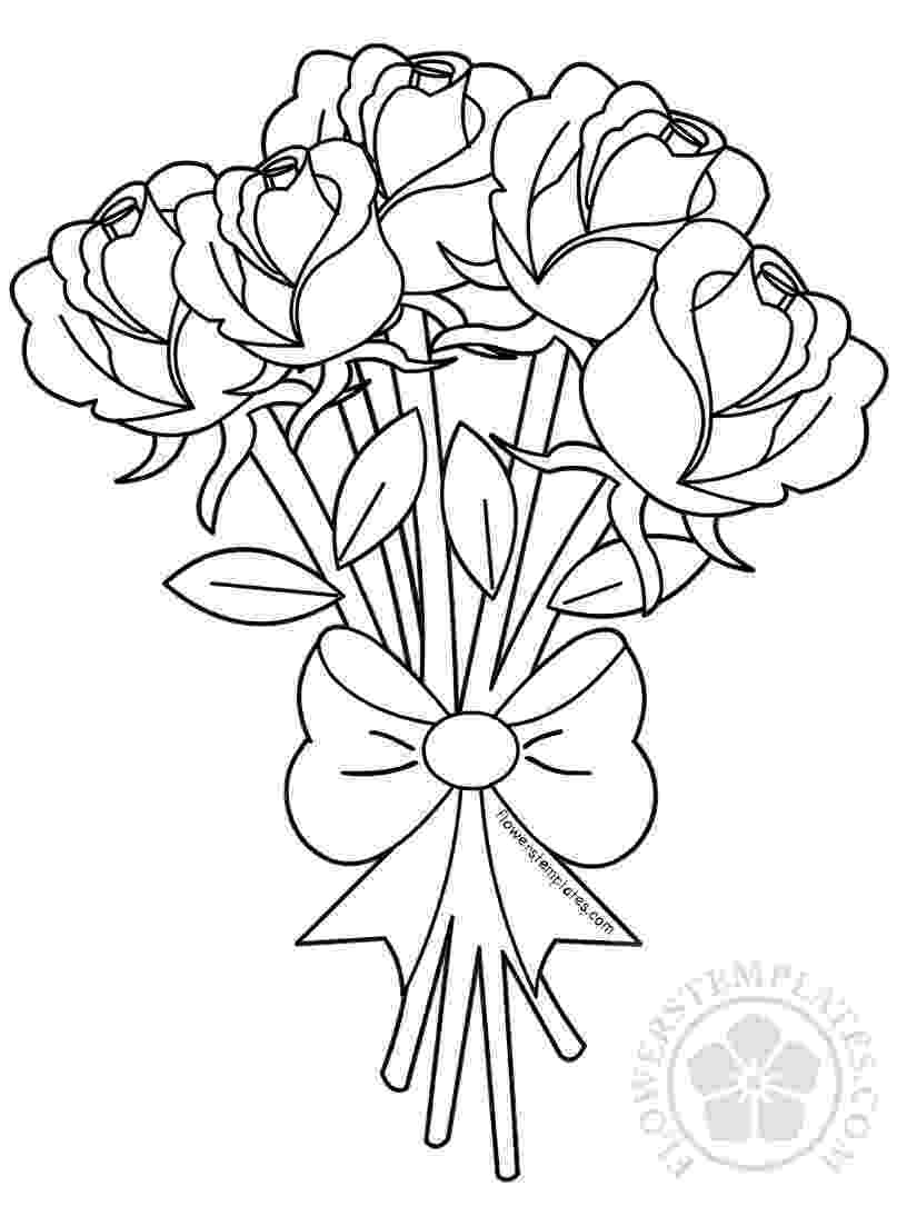 coloring pictures of bouquet of flowers bouquet coloring pages coloring of of flowers pictures bouquet