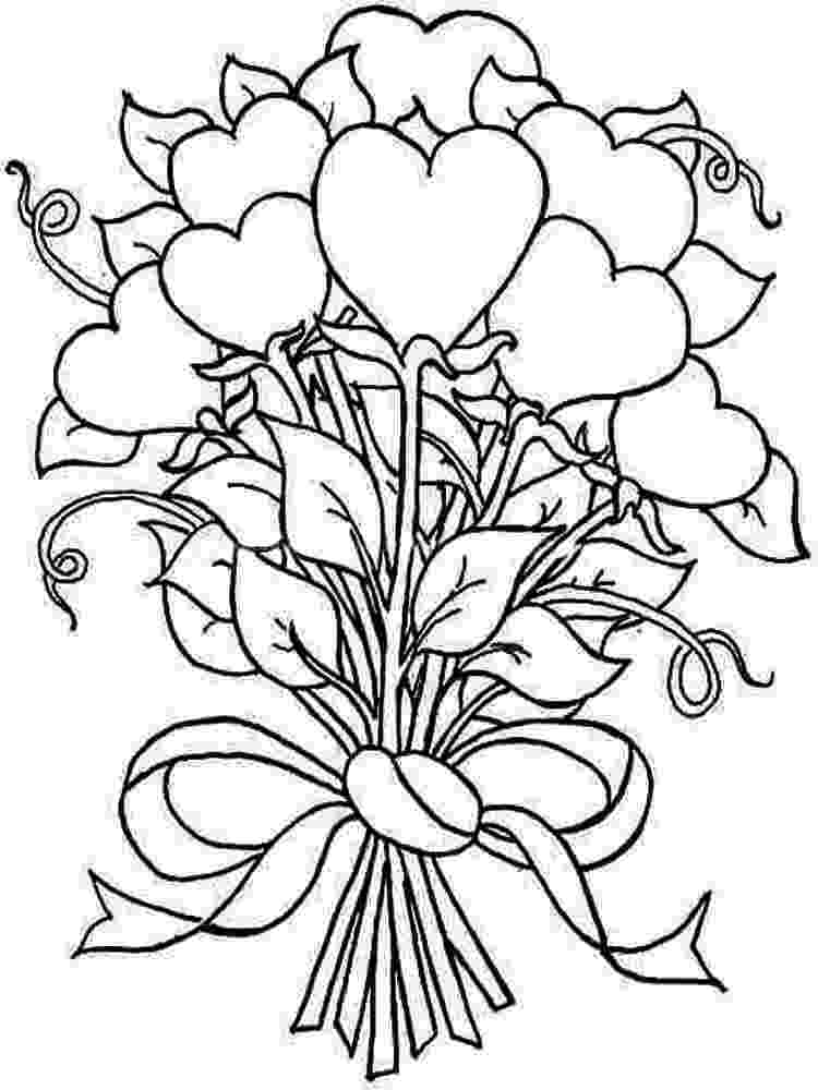 coloring pictures of bouquet of flowers bouquet flower printable of bouquet pictures flowers coloring of