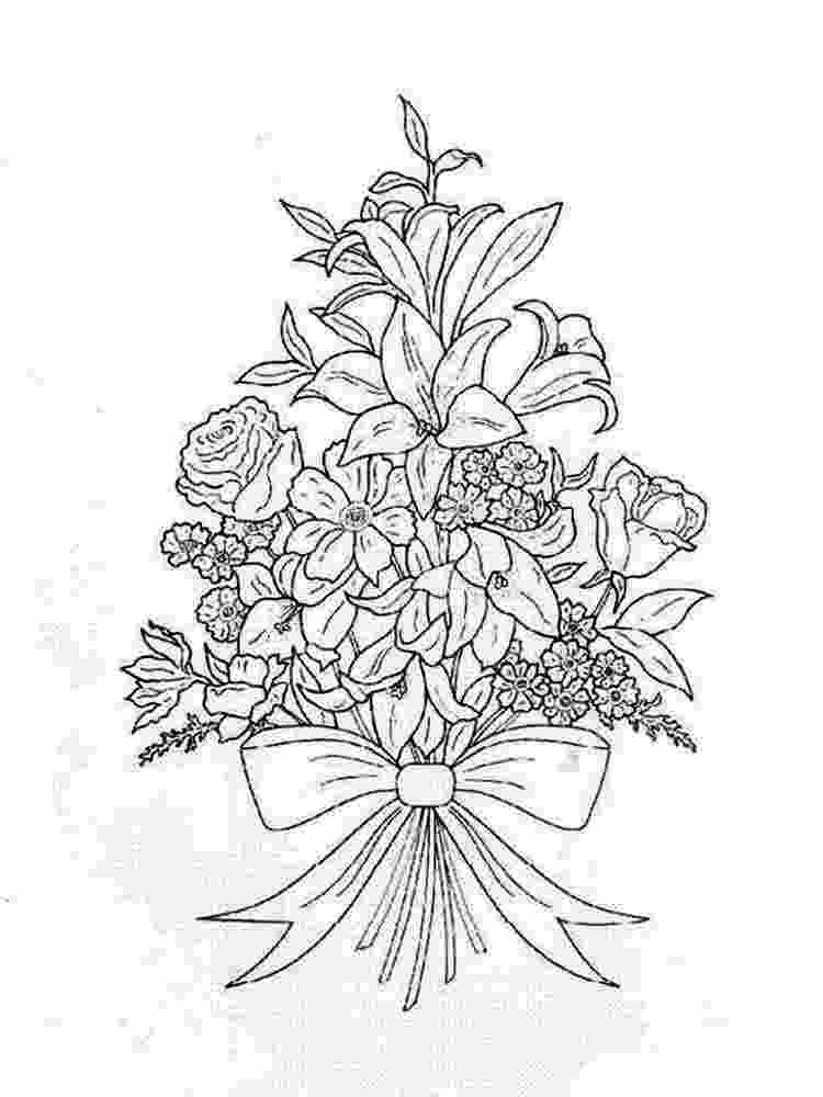 coloring pictures of bouquet of flowers bouquet of flowers coloring pages for childrens printable bouquet pictures flowers coloring of of