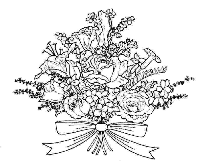 coloring pictures of bouquet of flowers bouquet of flowers coloring pages for childrens printable pictures flowers bouquet coloring of of