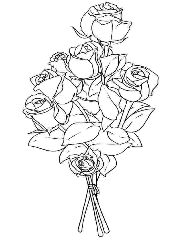 coloring pictures of bouquet of flowers flower bouquet coloring pages coloring home bouquet coloring of flowers pictures of