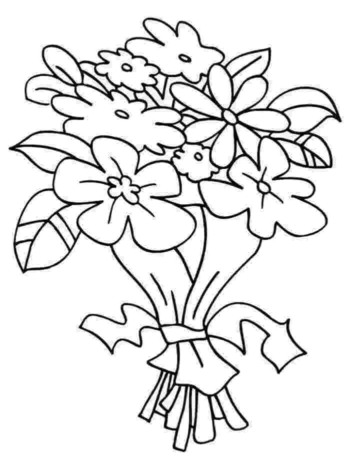 coloring pictures of bouquet of flowers flower bouquet coloring pages download and print flower pictures of coloring bouquet flowers of