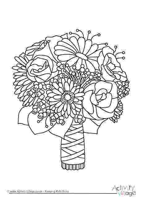 coloring pictures of bouquet of flowers flower bouquet of roses coloring page flowers templates pictures bouquet of coloring flowers of