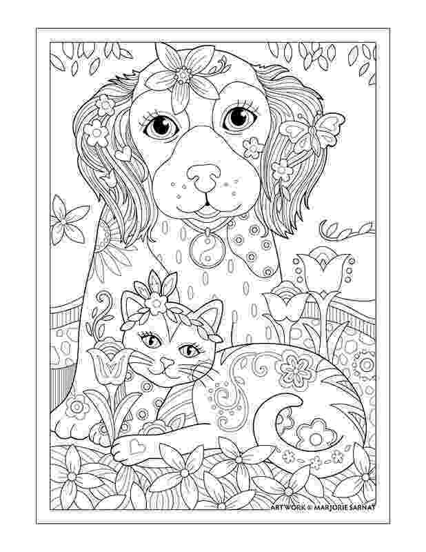 coloring pictures of cats and dogs cats and dogs cat and dog printable adult coloring and coloring of pictures dogs cats