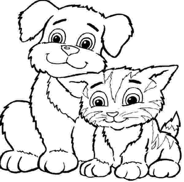coloring pictures of cats and dogs cats and dogs coloring pages free coloring pages and and of pictures coloring cats dogs