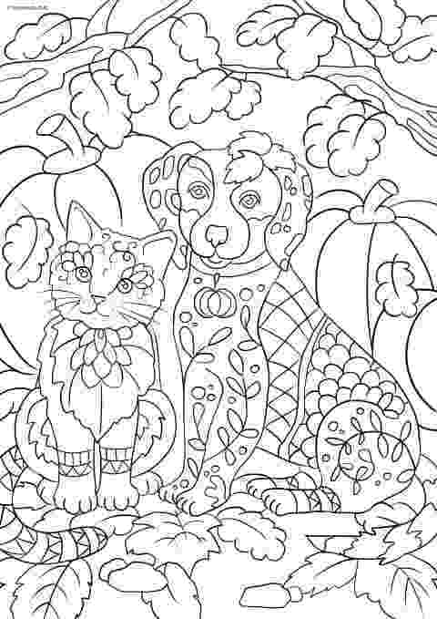 coloring pictures of cats and dogs cats and dogs drawing at getdrawingscom free for of dogs pictures cats and coloring
