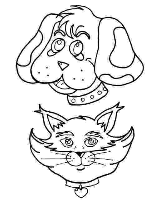 coloring pictures of cats and dogs christmas dog with cat coloring page stock illustration pictures coloring of cats and dogs