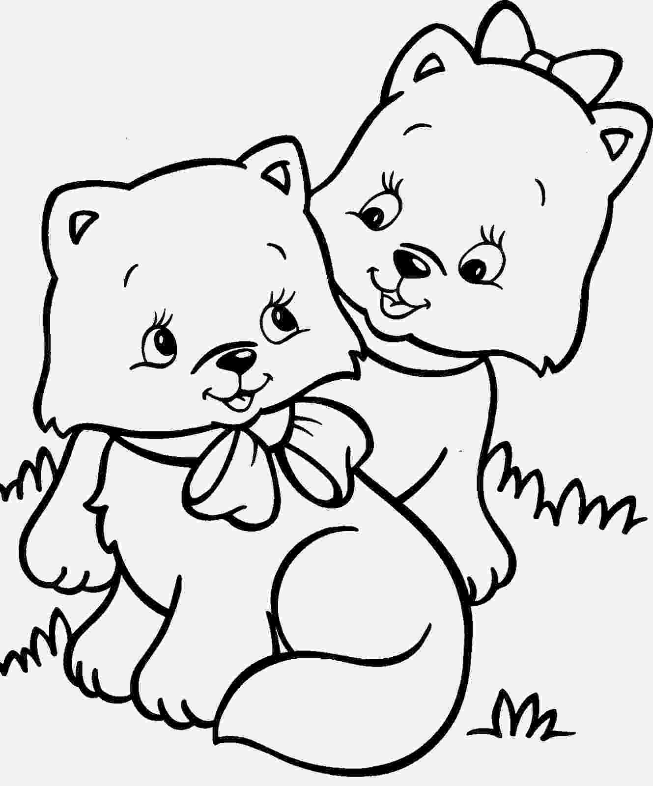coloring pictures of cats and dogs cute cats and dogs coloring pages for print of and coloring pictures cats dogs