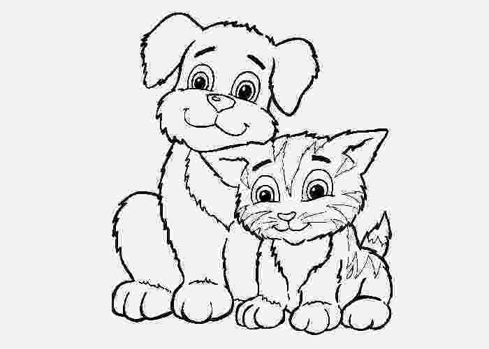 coloring pictures of cats and dogs puppy coloring page wecoloringpagecom coloring of dogs cats and pictures