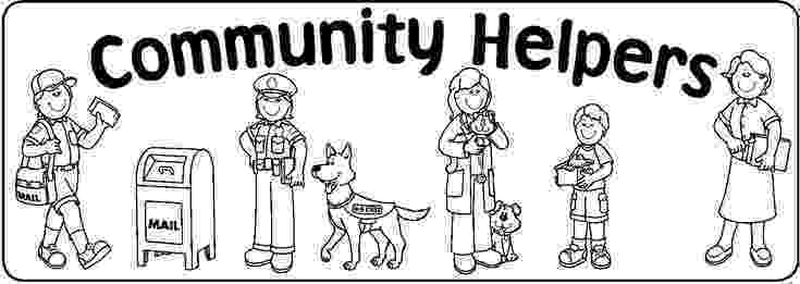 coloring pictures of community helpers 10 best images about community on pinterest activities helpers community coloring of pictures