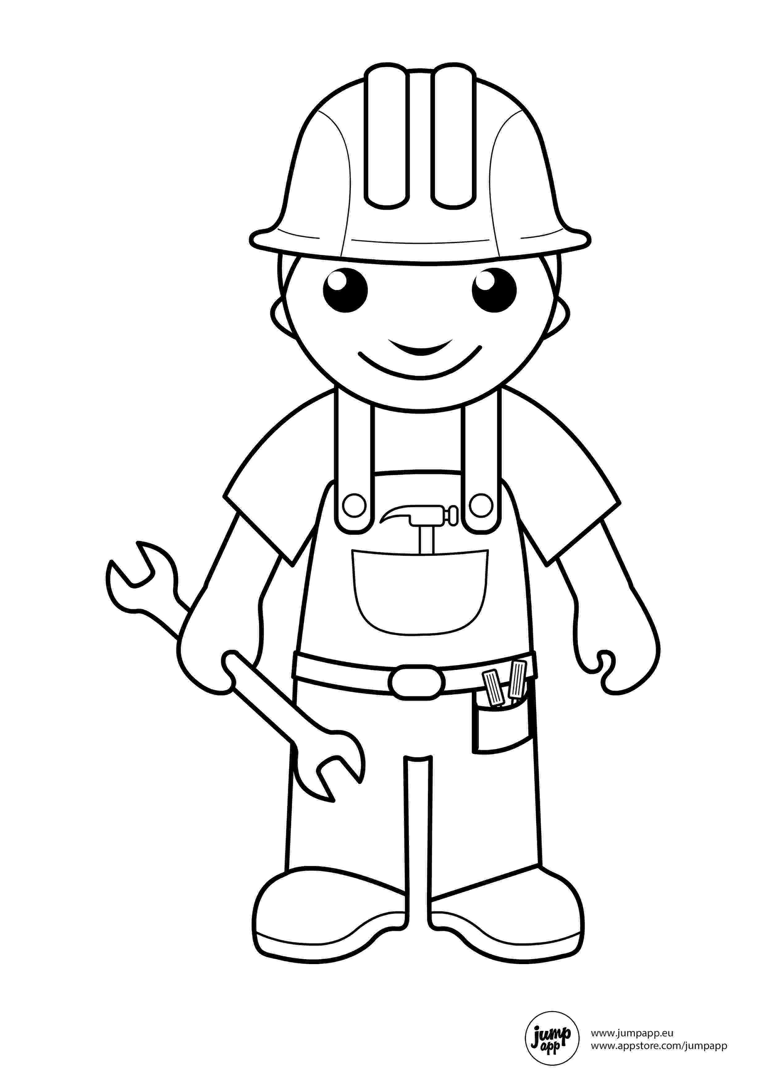 coloring pictures of community helpers builder coloring pages community helpers preschool helpers community coloring pictures of