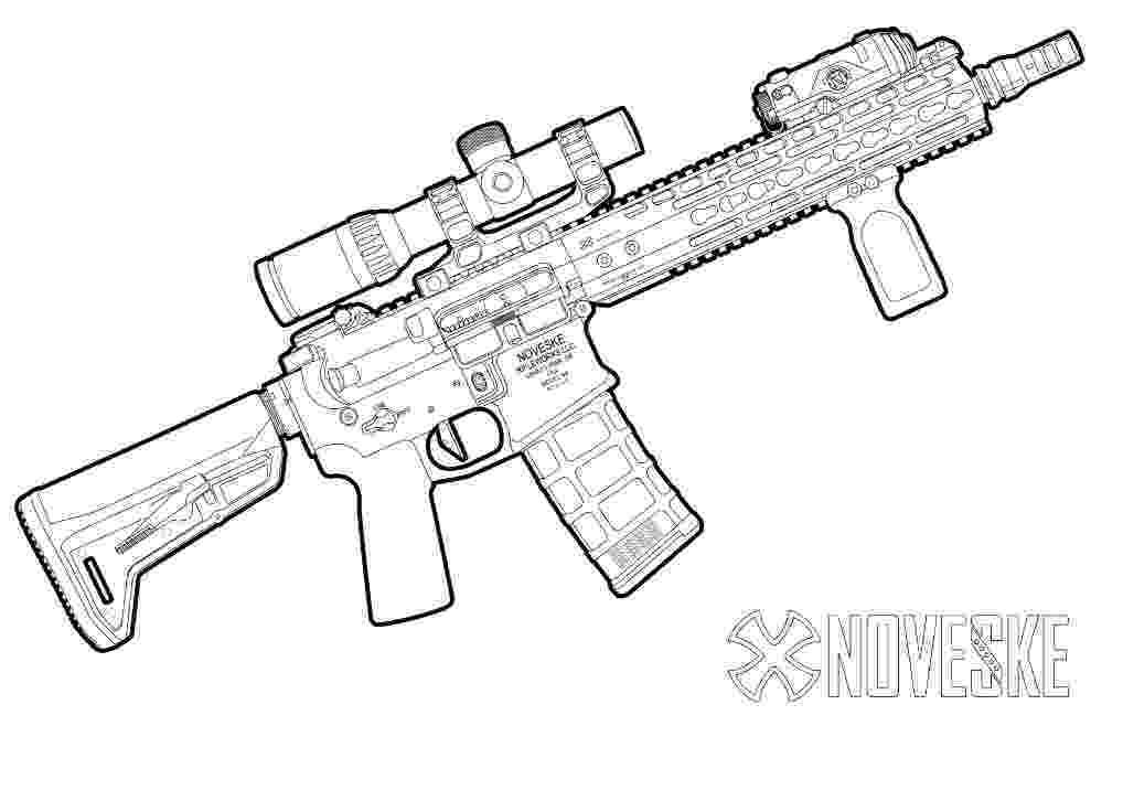 coloring pictures of guns fn scar assault rifle coloring page free printable guns coloring pictures of