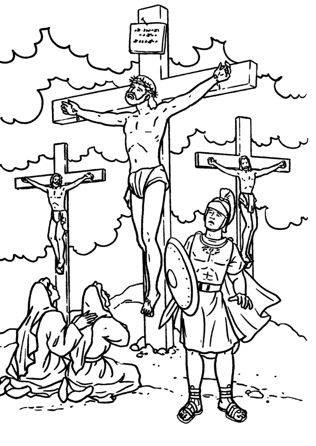 coloring pictures of jesus crucifixion 2012 03 11 free christian wallpapers crucifixion of coloring pictures jesus