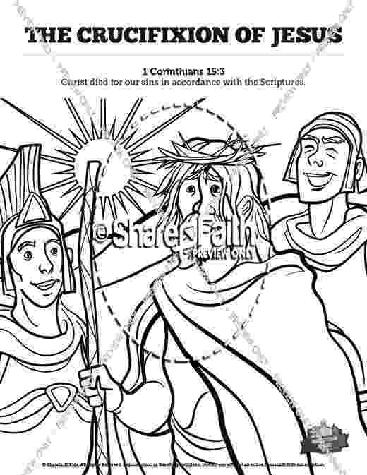 coloring pictures of jesus crucifixion bible coloring pages new testament of pictures coloring crucifixion jesus