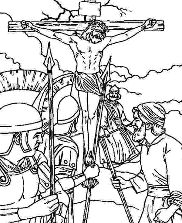 coloring pictures of jesus crucifixion crucifixion coloring pages at getcoloringscom free coloring jesus of crucifixion pictures