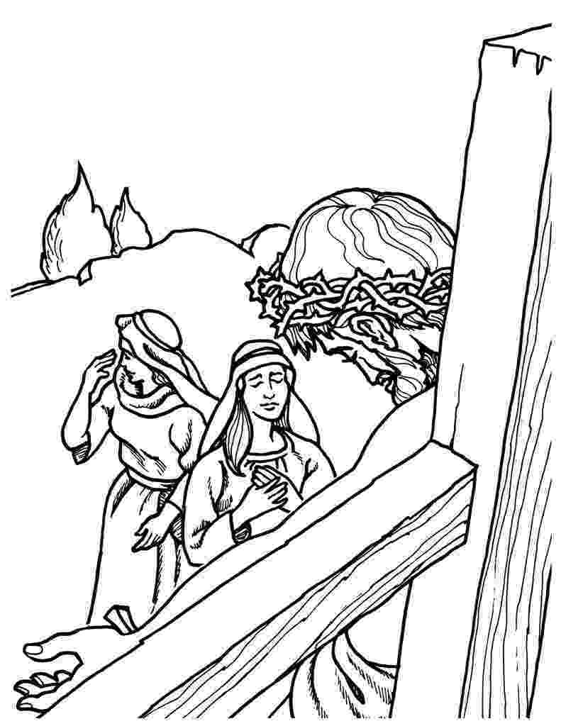 coloring pictures of jesus crucifixion crucifixion coloring pages printable coloring pages coloring pictures of crucifixion jesus