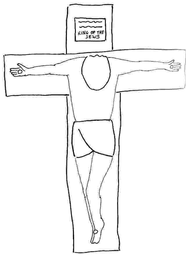coloring pictures of jesus crucifixion jesus crucified coloring pages at getcoloringscom free pictures jesus coloring crucifixion of
