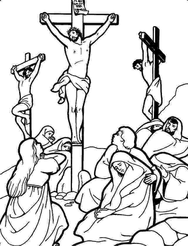 coloring pictures of jesus crucifixion jesus is crucified of jesus crucifixion pictures coloring