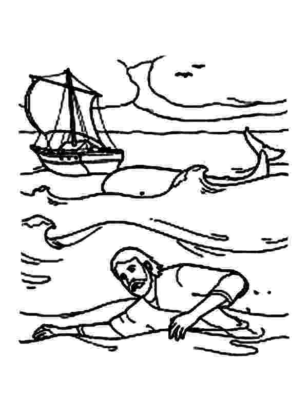 coloring pictures of jonah and the whale jonah swim to shore in jonah and the whale coloring page whale pictures coloring and the jonah of