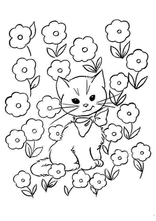 coloring pictures of kittens cute kitten coloring pages getcoloringpagescom coloring kittens pictures of