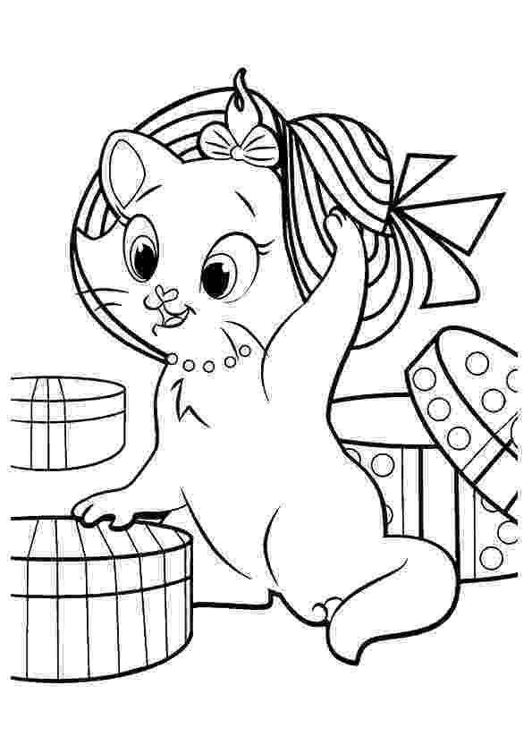 coloring pictures of kittens free printable cat coloring pages for kids pictures coloring of kittens