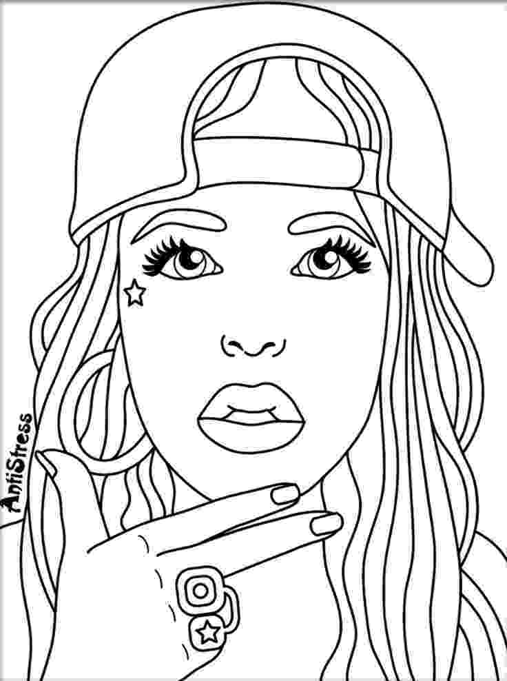 coloring pictures of people bestie stress illustration art people coloring pages coloring pictures people of