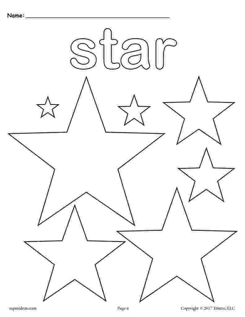coloring stars three star coloring pages wecoloringpagecom coloring stars