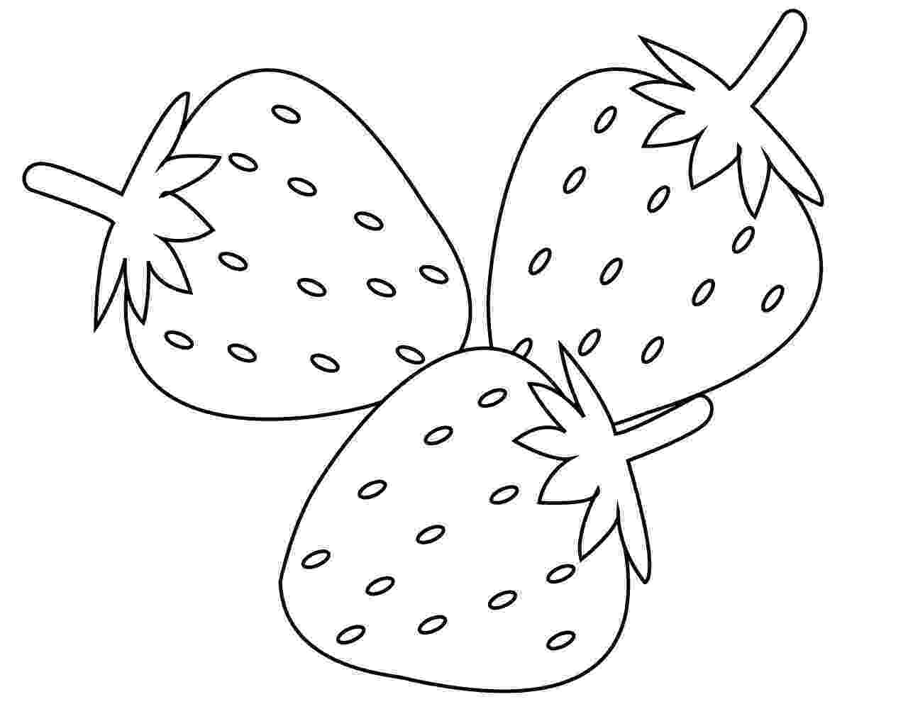 coloring strawberry free printable fruits coloring pages for kids online coloring strawberry