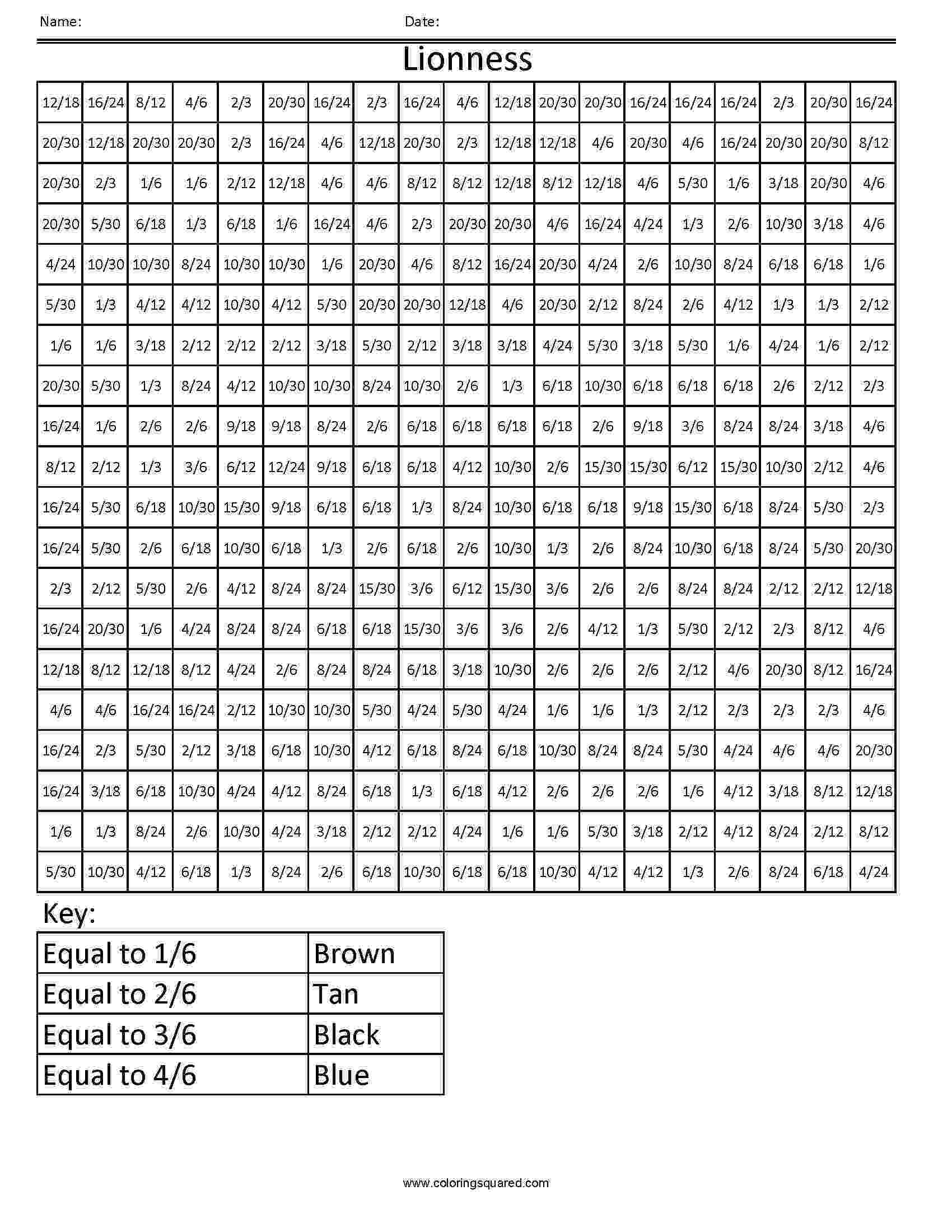 colour by number fractions 1000 images about 3rd grade math ideas on pinterest number colour fractions by