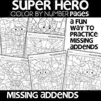 colour by number goldilocks color by number missing addends super hero themed math goldilocks number colour by
