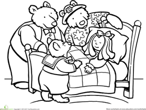 colour by number goldilocks color goldilocks and the three bears worksheet number goldilocks colour by