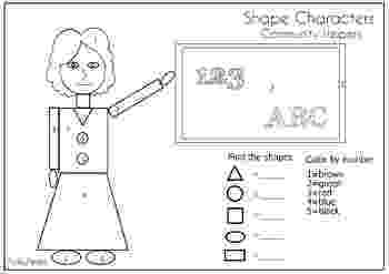 colour by number shapes color the shapes in the shape house 1st 3rd grade number shapes colour by